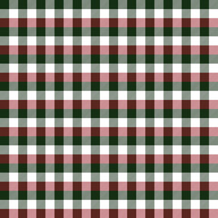 Christmas Buffalo Plaid Seamless Pattern - Classic buffalo style plaid design in red, green, and white