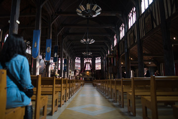 Fotomurales - The Church of St. Catherine is a wooden church in the city of Honfleur.