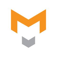M logo design Wolf, fox
