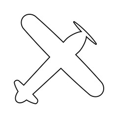 view of the old plane from above icon. Element of cyber security for mobile concept and web apps icon. Thin line icon for website design and development, app development