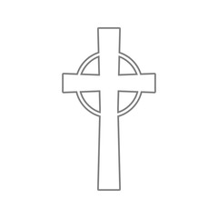 Religious cross icon. Element of cyber security for mobile concept and web apps icon. Thin line icon for website design and development, app development
