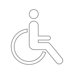 Disabled Handicap icon. Element of cyber security for mobile concept and web apps icon. Thin line icon for website design and development, app development