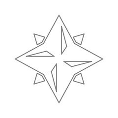 Eight point star icon. Element of cyber security for mobile concept and web apps icon. Thin line icon for website design and development, app development