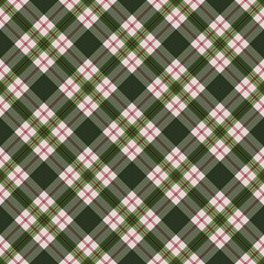 Red and Green Plaid Seamless Pattern - Festive plaid design in muted Christmas colors