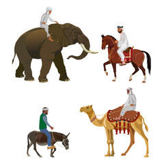 Different riders vector