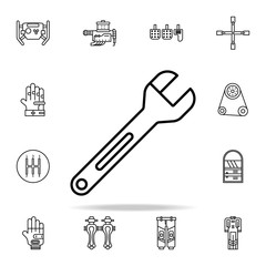 wrench icon. motor sports icons universal set for web and mobile