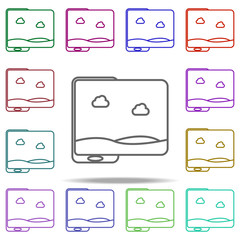 panoramic picture in phone icon. Elements of Virtual Reality in multi color style icons. Simple icon for websites, web design, mobile app, info graphics