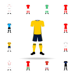 Sweden national football form illustration icon. Football icons universal set for web and mobile