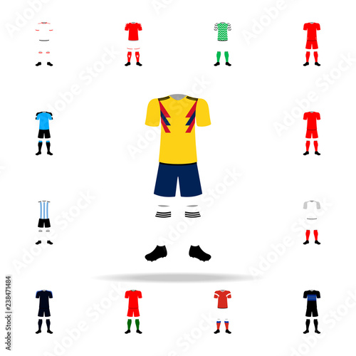 Columbia national football form illustration icon  Football icons