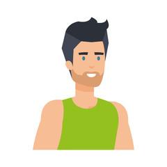 athletic man avatar character