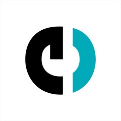 Obraz e, ce, o,ceg, ceo initials letter company logo - fototapety do salonu