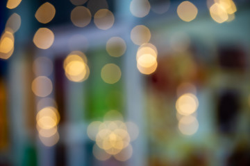 Blur lights Golden and colorful background