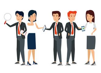 businesspeople teamwork strategy company information