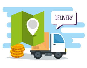 shopping online and delivery with location and coins