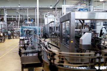 bottling plants in factory