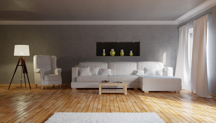 Living room. 3d illustration