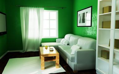 Green living. 3d illustration