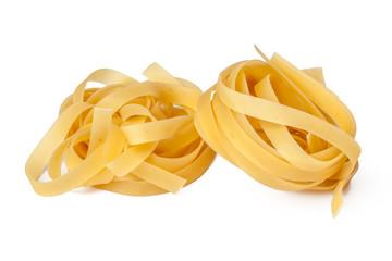 pasta on white background