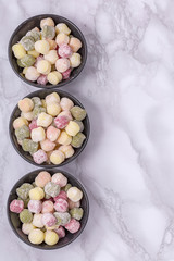 Freshly made Italian gnocchi with copy space