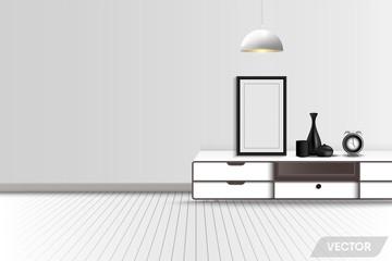 Living room interior design and decorative, Vector, Illustration