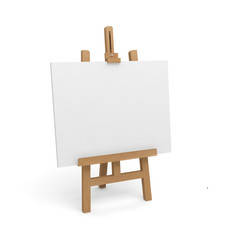 easel canvas blank white 3D