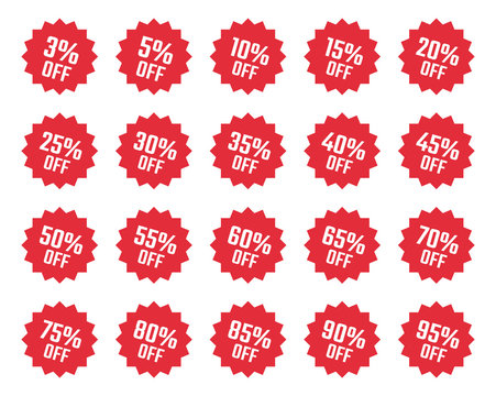 discount labels set, sale tag, offer price