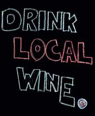 Drink local wine, black background