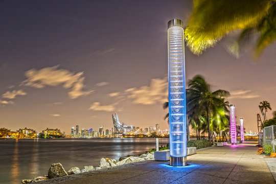 South Pointe Park in Miami at Night