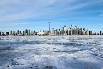 Wall Murals Toronto view of city in winter