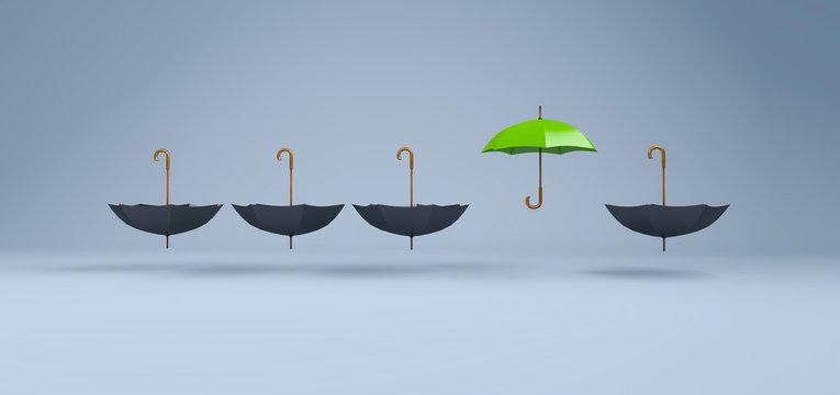 Regenschirm - Konzept Schutz, Innovation und Kreativität
