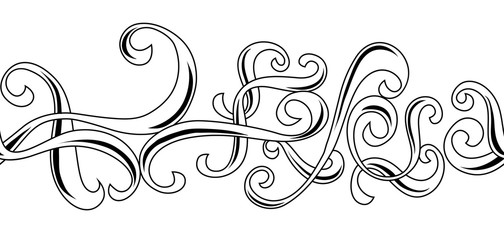 Seamless pattern with curls.