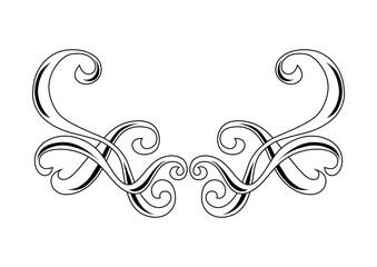Decorative swirl border ornament.