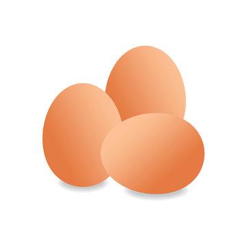three pieces of eggs vector