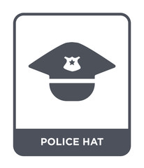 police hat icon vector