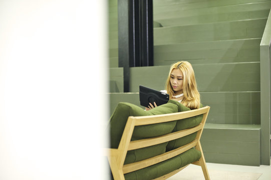 Young Asian businesswoman in an office