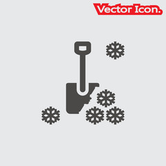 shovel icon isolated sign symbol and flat style for app, web and digital design. Vector illustration.