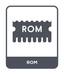 rom icon vector