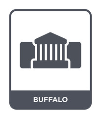 buffalo icon vector