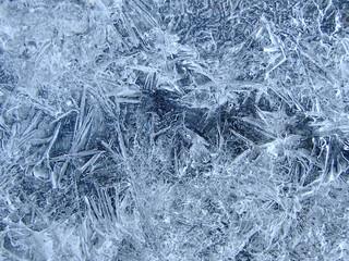 Winter Bluish Textured Icy closeup Background
