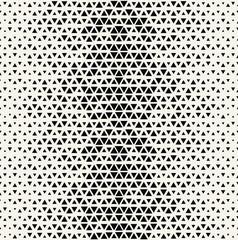 triangle halftone pattern, seamless geometric gradient border