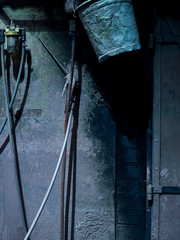 Detail einer Farbkammer in Werkstatt