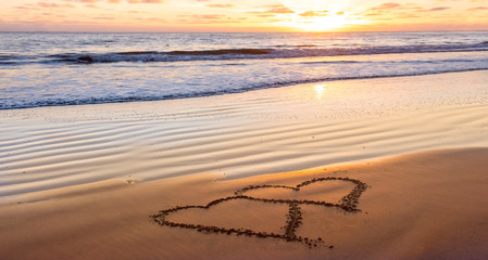 valentines day on beach