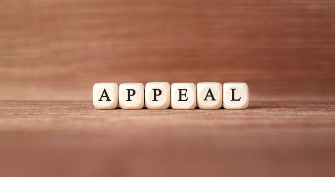 Word APPEAL made with wood building blocks