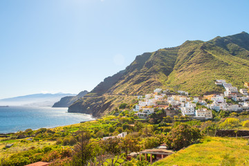 Beautiful view Igueste de San Andres small village on Tenerife Canary Islands