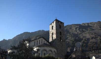 Campanario de la iglesia de Andorra de Vella