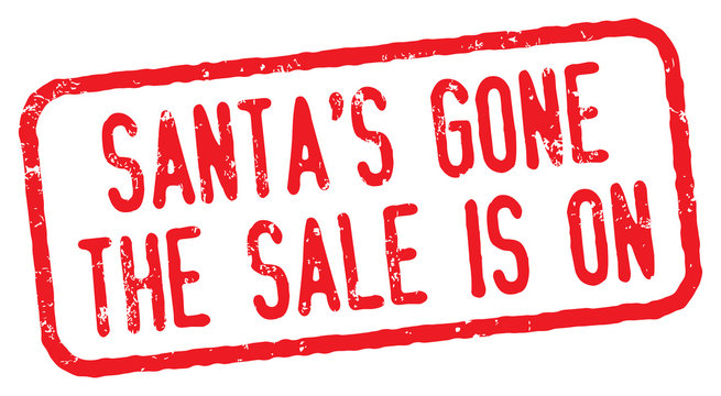 Santa's Gone, The Sale is On. After Christmas Sale.