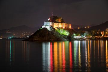 Night Cityscape and Castle