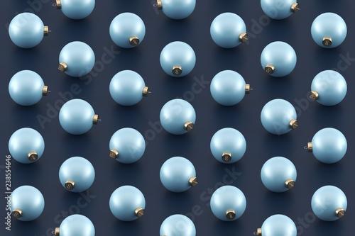 Pastel Christmas Ornaments.Minimal Christmas Pattern Pastel Blue Christmas Ornaments
