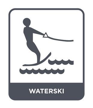 waterski icon vector