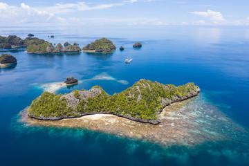 Remote Islands and Coral Reef in Misool, Raja Ampat